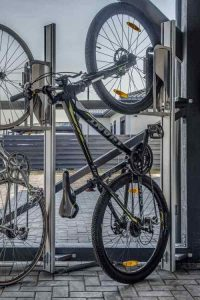 Aparcar tu bicicleta en vertical